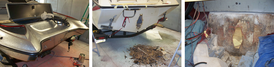 Floor Amp Transom Repair Nowak Fiberglass
